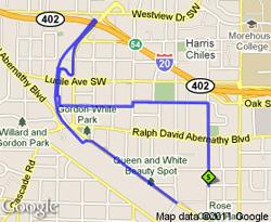 BeltLine 5K Route
