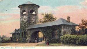 Westview Cemetery Gate circa 1909
