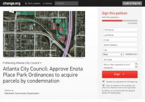 Enota Park Petition