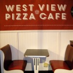 Westview Pizza Cafe Sign and Booths