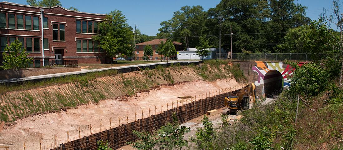 2016 BeltLine Westside Trail Construction