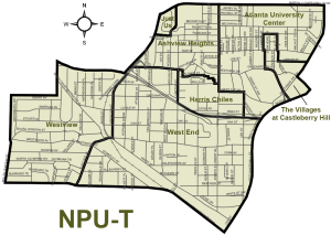 Atlanta Neighborhood Planning Unit T Map