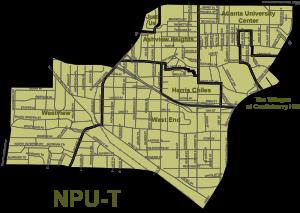 Atlanta Neighborhood Planning Unit T Map