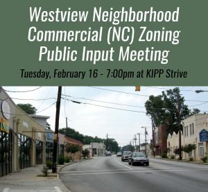 Westview Neighborhood Commercial Zoning Input Meeting